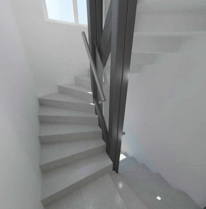 Acabados de obra an escaleras